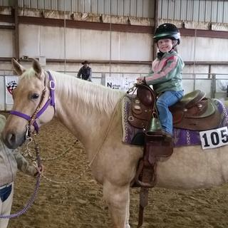 Worked wonderfully for my 4 year old daughter's leadline class.