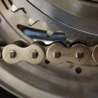 Close up of o ring style chain and rear sproket