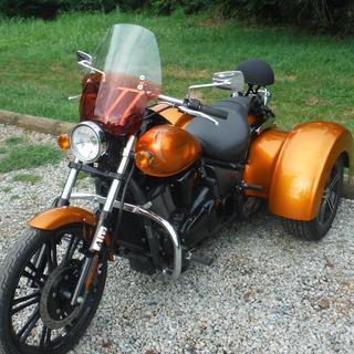 2012 Kawasaki Vulcan Custom. PERFECT!! Tint  is AWESOME!