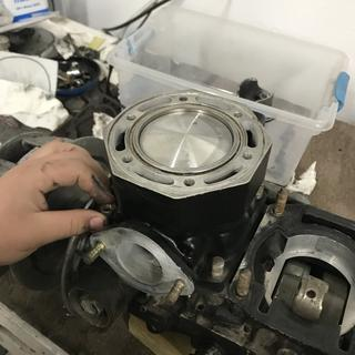 New piston rings and bearings installed from Dennis Kirk
