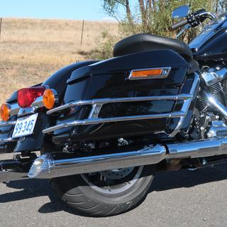 2018 Road King. These mufflers look and sound great, very well made and perfect fit.