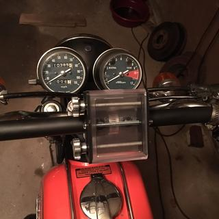 here it is on my 76 Honda CB200!