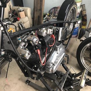My 1976 Harley Ironhead Sportster winter project.