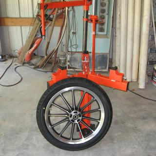 Finished front tire.
