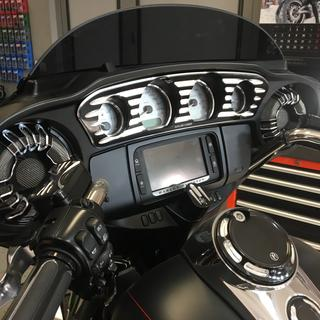 Speaker grill together with  Inner Fairing Gauge Trim