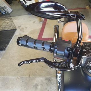 2017 Indian Scout Joker Machine black brake lever.