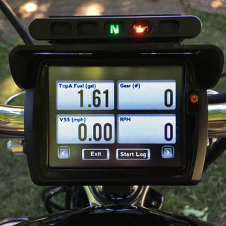 One of several gauge cluster options.