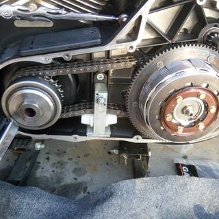 These clutch plates and Auto Primary Chain Adjuster Kit made throttle responsive yeah