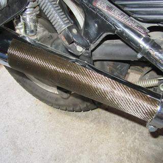 The insulated muffler doesn't look bad.
