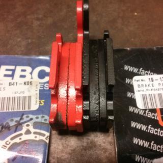 EBC red, FS-427 black