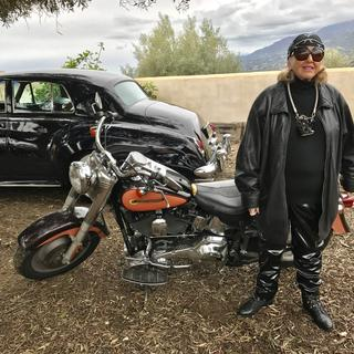 Party with Road Warrior theme. I went as 88 year old biker although I don't ride one.