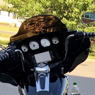 """10"""" was perfect. Keeps my hands behind the fairing but is more comfortable with better control."""