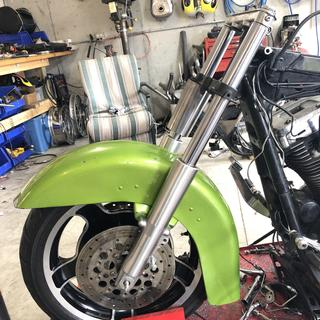 Still have some machine work and fitting to do, but very much looking forward to riding her.