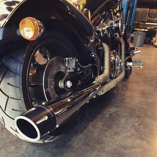 2015 Honda Fury. Freedom exhaust 2n1.