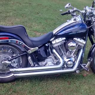 new seat on my 2007 Harley-Davidson Softail Springer CVO FXSTSSE