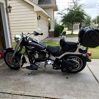2015 Harley Fatboy, left side mini floorboards.