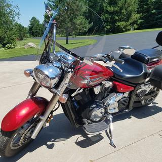 Windshield has classic look and nice fit providing good protection without affecting control of bike