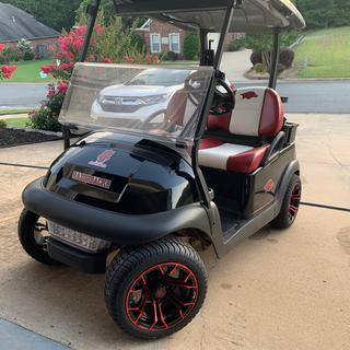 """12"""" wheels with 215/40/12 tires on stock 2010 Club Car Precedent"""
