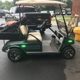 The Maloney Band's golf cart! Love the new tires and wheels!