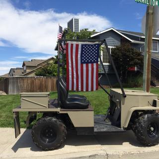 1988 EZGO converted to an army truck/jeep.