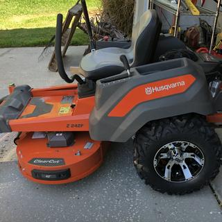 Tire upgrade for Zero Turn Mower
