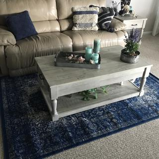 Beautiful Tables! bought coffee table and two end tables.  Great quality and well made.