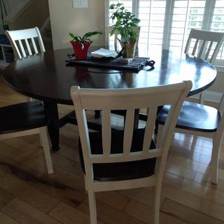 We have a custom table and had no chairs to go with it. These chairs worked great!  Great value!