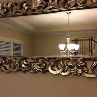 Nice design for hanging mirror.