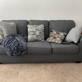 This sofa and the pillows are SO comfortable and plenty of rooms for more than 2 people lol.