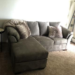 Perfect couch for me as a single person. Easy Assembly & firm yet comfortable!
