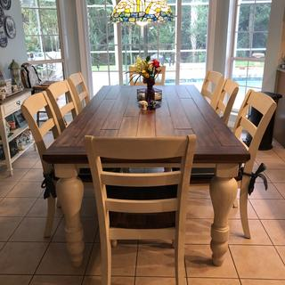 We just love our new dinning set!