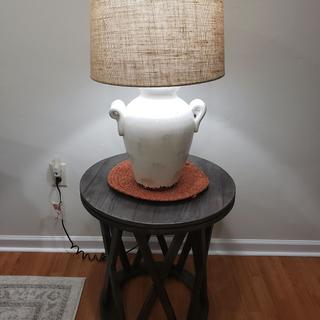 1 of 2 Lamps & 1 of 2 end tables