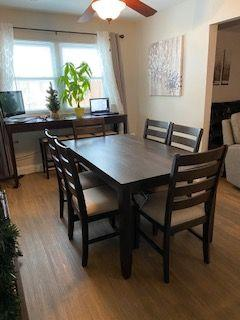 Fits perfectly -loved so I purchased the dining room table with chairs too
