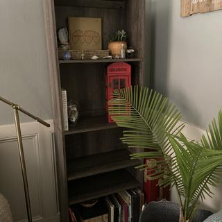 These shelves are tall and somewhat narrow, so they're good for small spaces/corners