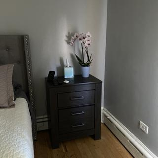 Love the night stand, lots of space!!