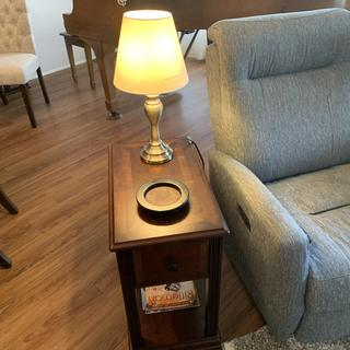 Perfect size next to our small recliner - good looking furniture
