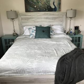 I love it so far! My only complaint is that the headboard does wobble a bit, front to back.
