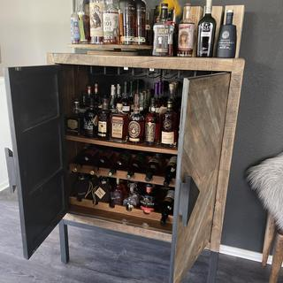 As you can see we have stocked up our cabinet and absolutely love it!