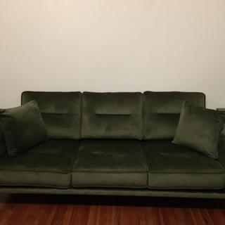 Couch is darker than advertised, but this photo doesn't capture the exact color either.