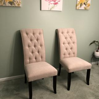 Love the chairs. I bought 8 of them. They were not hard to put together.