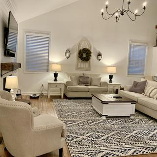 Completed my modern farmhouse family room!