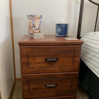 Nightstands only needed handles installed, great quality, color perfectly matches other furniture.