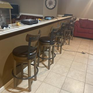 Bar stools in the Basement