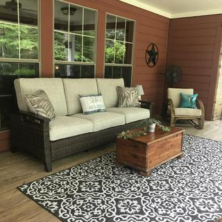 Love this new sofa for our porch!