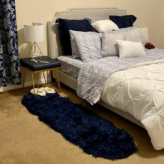 Queen panel bed with nailhead trim