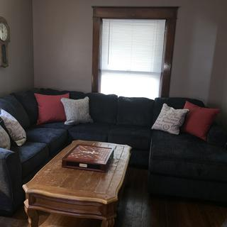 Love this sectional and it fit the space perfectly!!