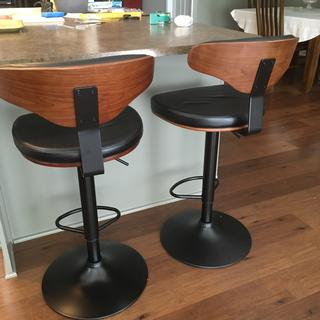 Love my bar stools. Two men assembled them fairly easily.