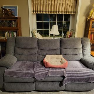 Our Tulen Couch in the living room