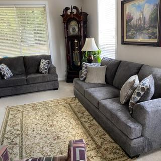 Rug just doesn't match but the new sofa and love seat look great.