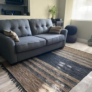This rug really upgraded the look of the entire space.